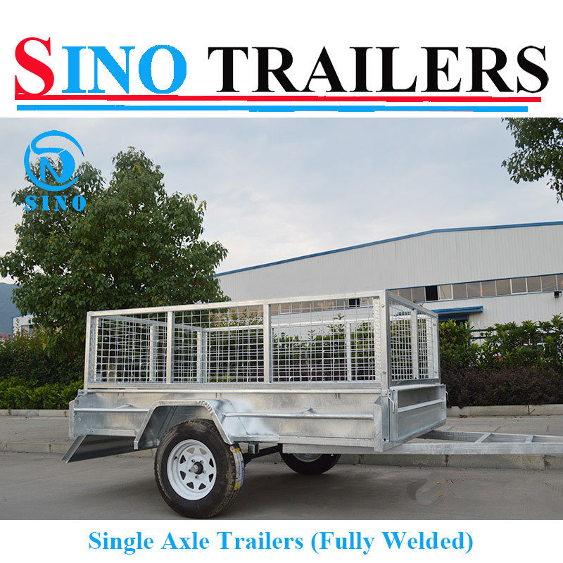 8*5 Fully Welded Box Trailer with Spare Wheel