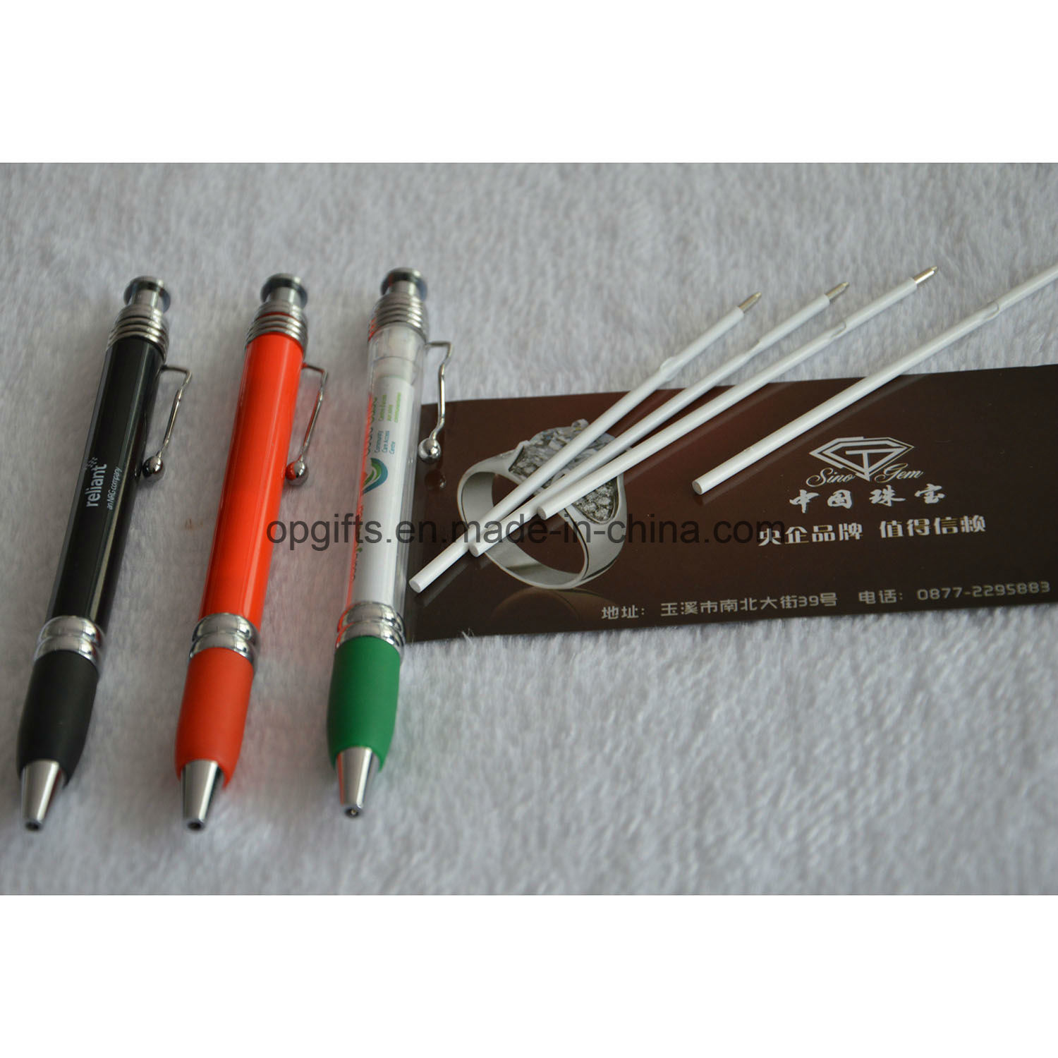 Top Selling Paper Roll Hand Banner Design Promotional Pen