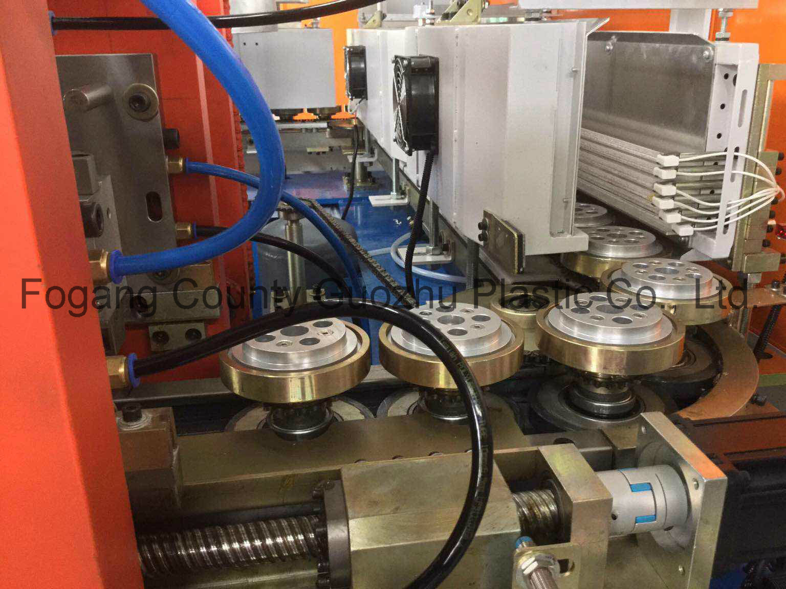 Linear 2 Cavity Blowing Plastic Machinery for Jar