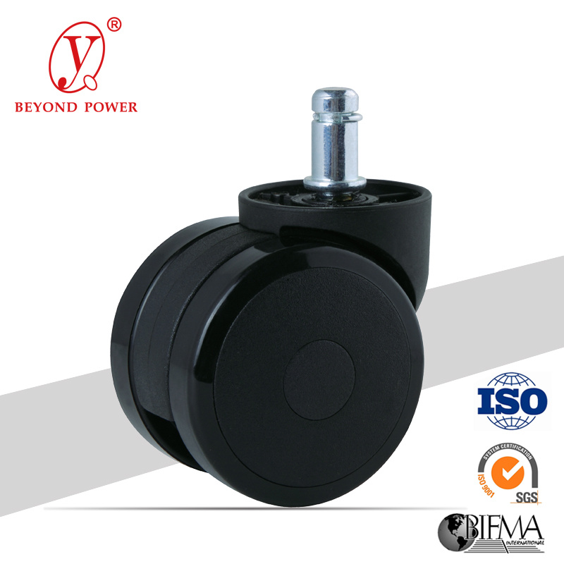60mm PVC Office Chair Wheel Castor   Casters Furniture Caster Wheel Factory Chair Caster Cabinet Caster