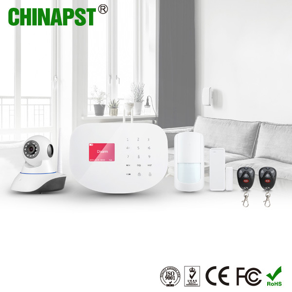 Wireless WiFi GSM Home Alarm System with IP Camera (PST-WIFIS2W)