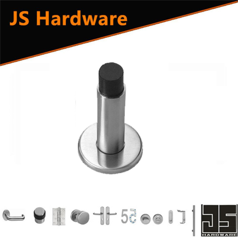 Stainless Steel 304 Door Stopper with Black Rubber