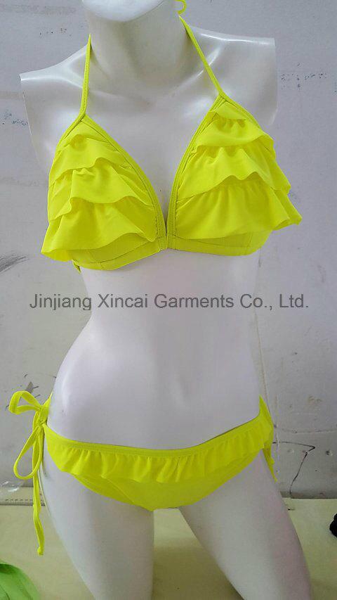 Frill 80%Nylon 20%Spandex Lady Sexy Bikini