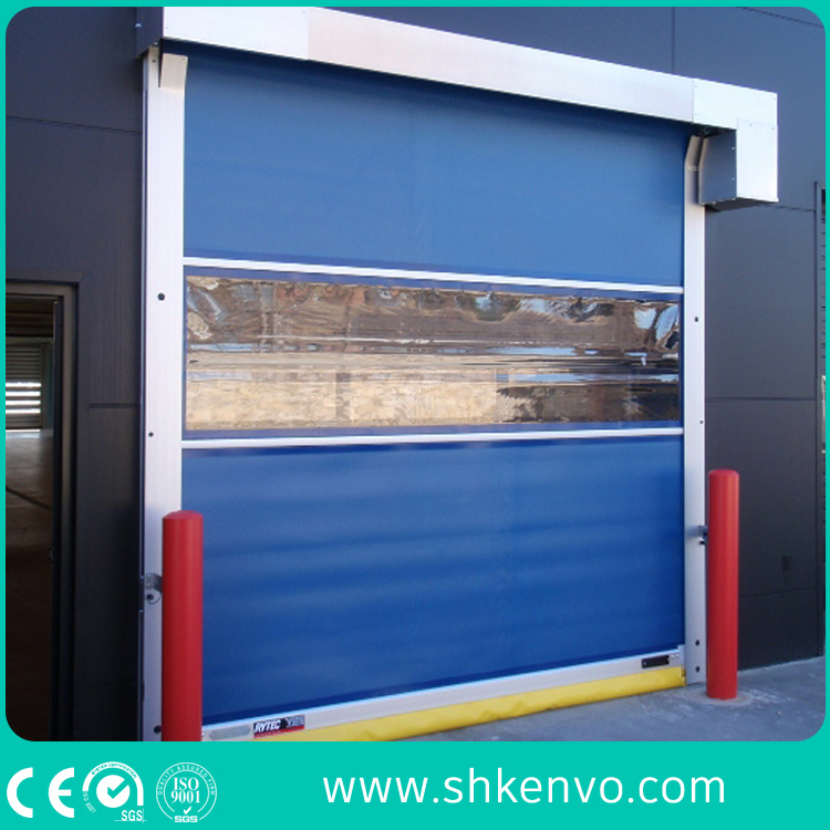 Food Grade PVC Fabric High Speed Fast Rapid Roller Shutter Door