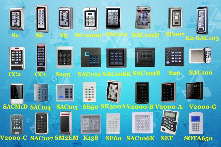 500 User 125kHz Em ID Waterproof Metal Keypad RFID Door Standalone Access Controller (SAC105)