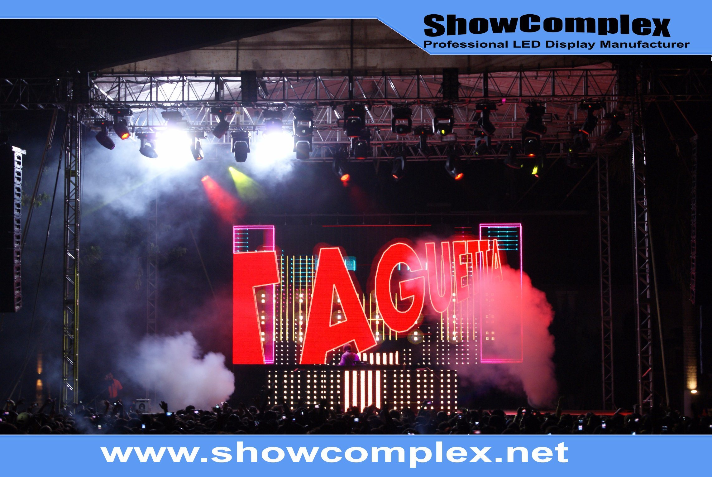 Hight Brightness of Outdoor Full Color Rental LED Video Wall with Front Service (pH4.81)