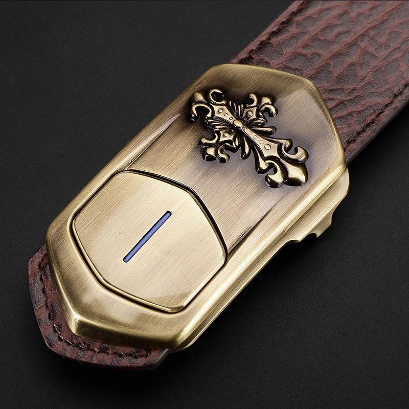 Luxury Men Smart Leather Belt Phone Anti-Lost Smart Bracelet