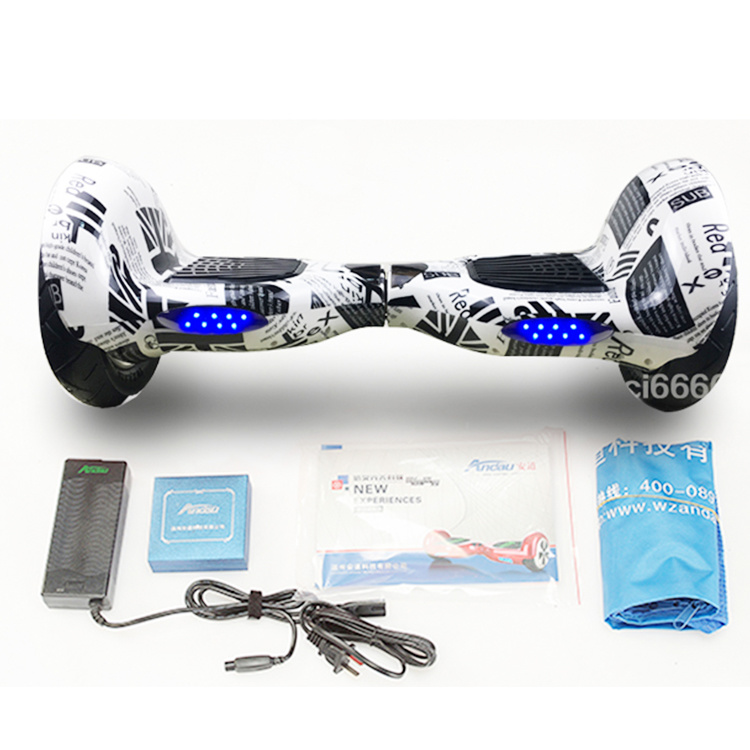 10 Inch 2 Wheel Bicycle Self Balancing Scooter Hoverboard Electric Skateboard