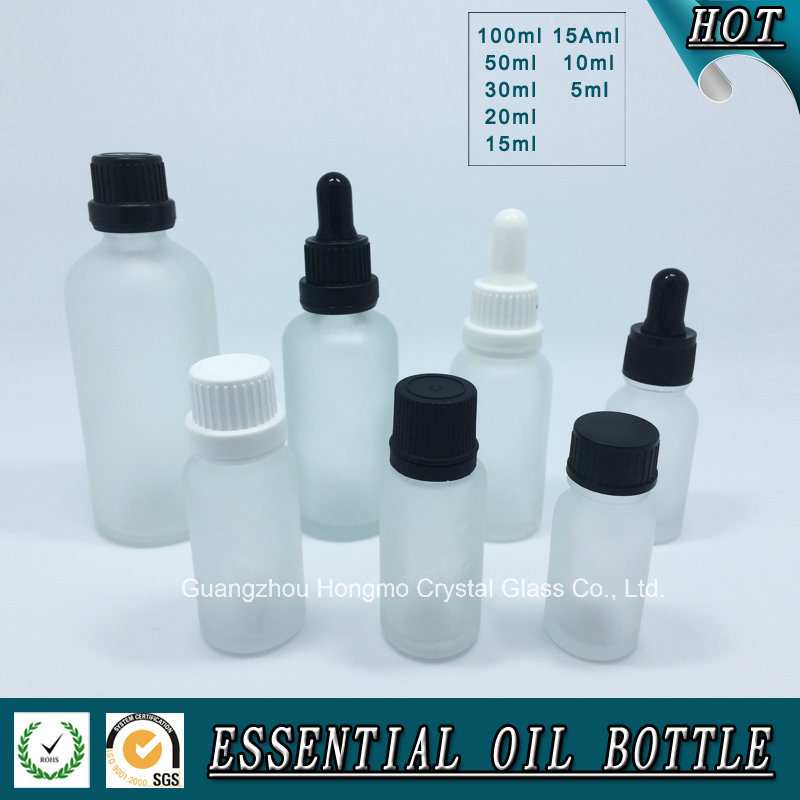 Clear Frosted Glass Bottle for Essential Oil
