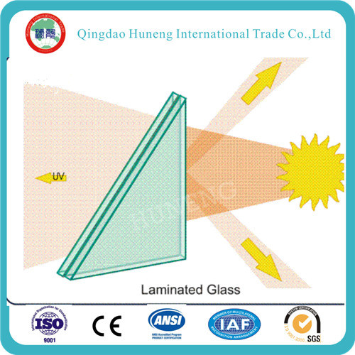 Tempered Laminated Glass with CCC, ISO Certificate