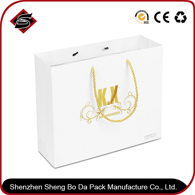 Portable Customzied Printing Gift Paper Candle Packaging Shopping Box