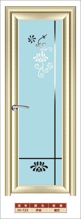 Cheap aluminium bathroom glass doors with flower quotes for Cheap glass doors