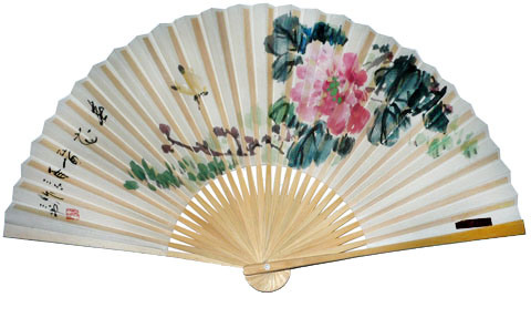 how to make hand held paper fan