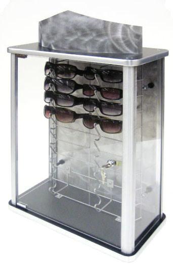 Locking Eyeglass Frame Displays : EYEGLASSES DISPLAY CASE Glass Eye