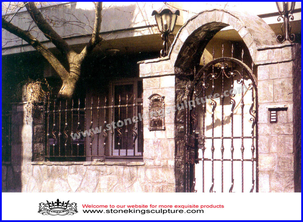 Puerta de entrada de acero de la puerta de entrada del for Puertas de entrada de hierro
