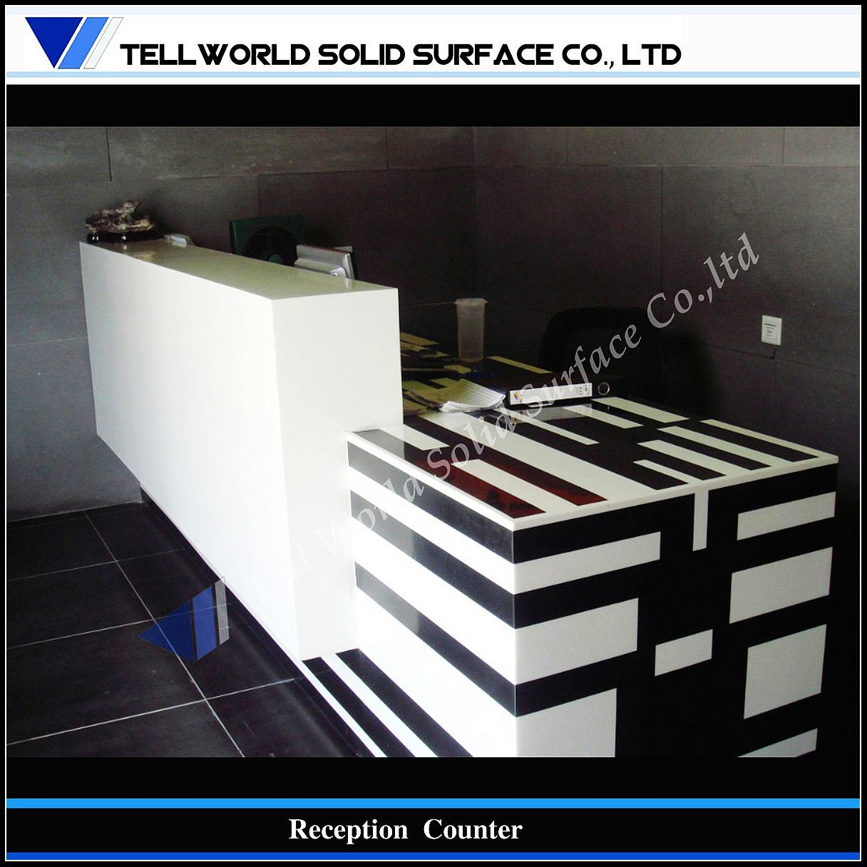 Modern Commercial Office Furniture Reception Counter Tw