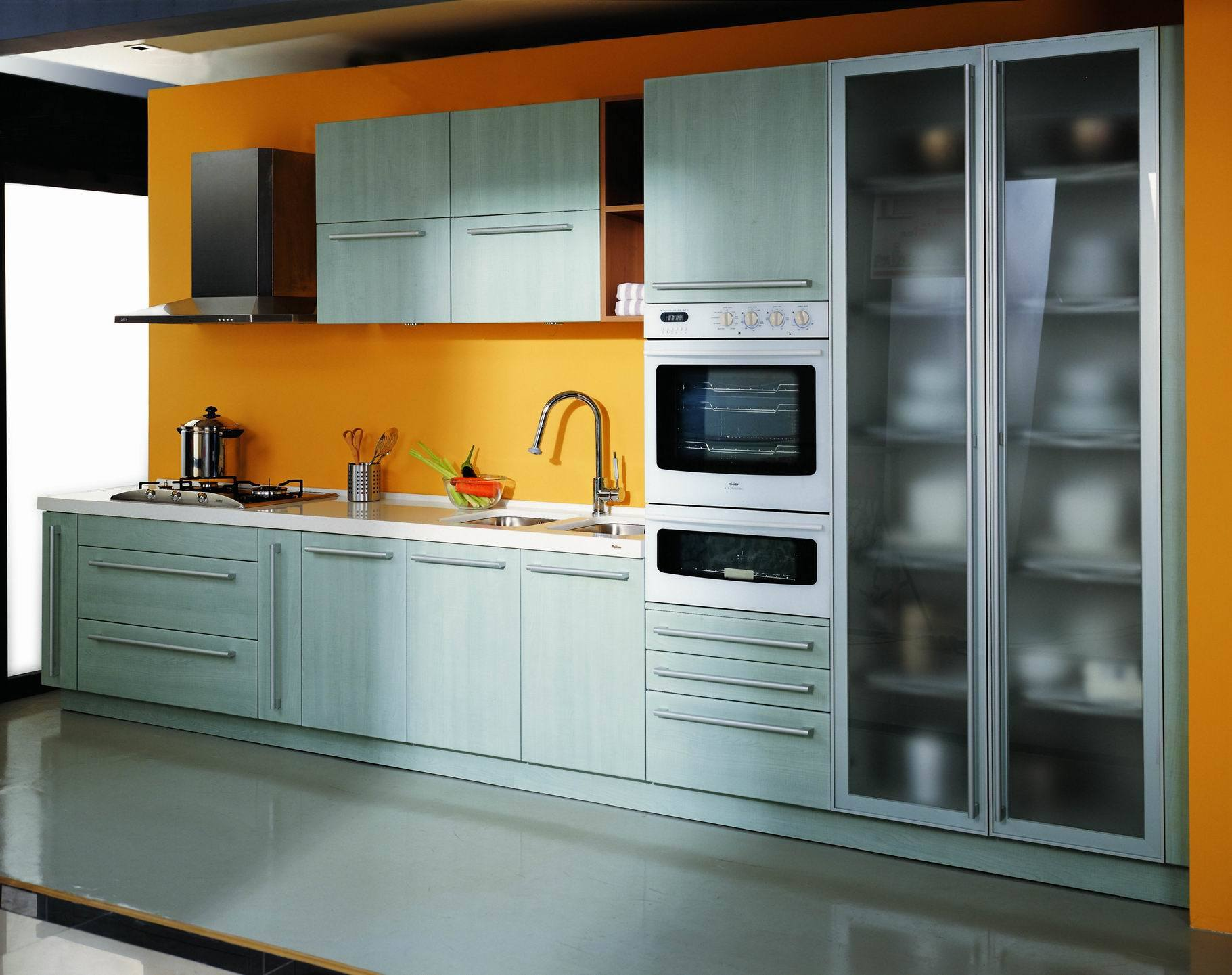 China pvc kitchen cabinets pa4002 china kitchen for Kichan farnichar design