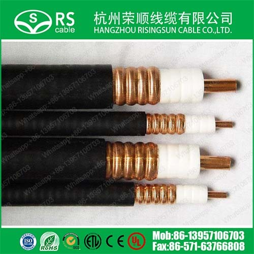 "3/8"" Corrugated RF Leaky Feeder Cable Heliax Coax Cable"