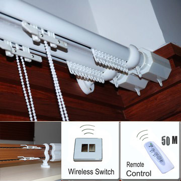 China Remote Control Curtain System China Remote Control Electric Curtain Aluminium Curtain Rod