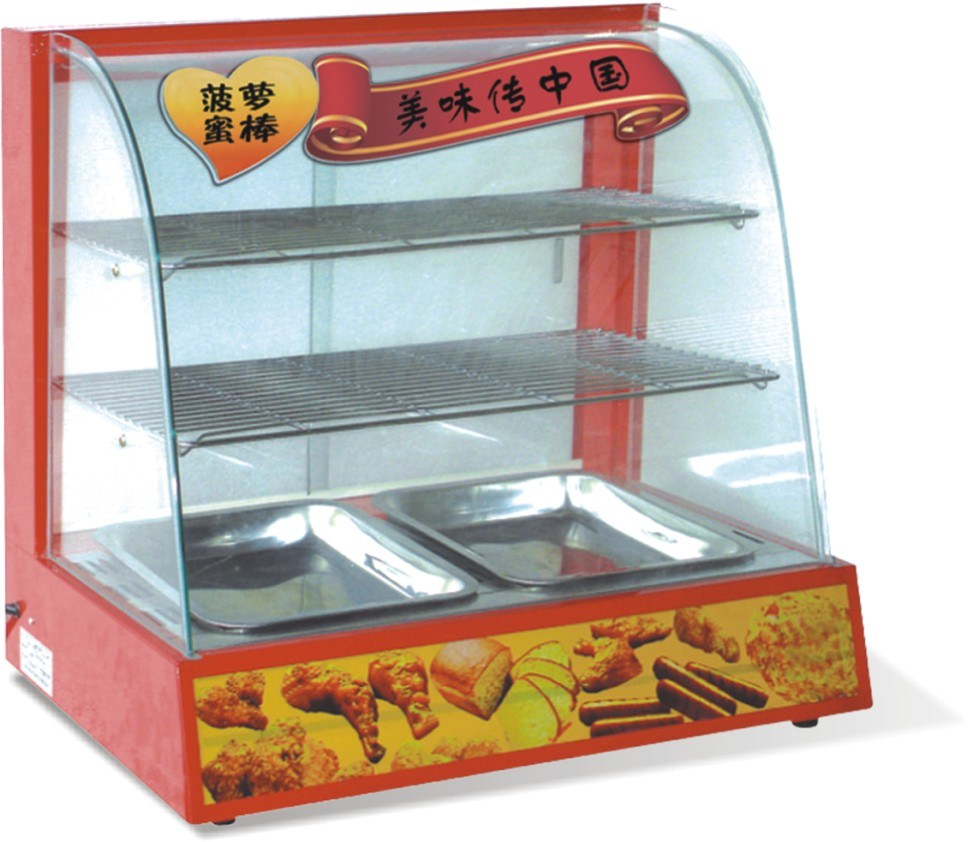 China Professional Hot Food Display Warmer Showcase Supplier with CE