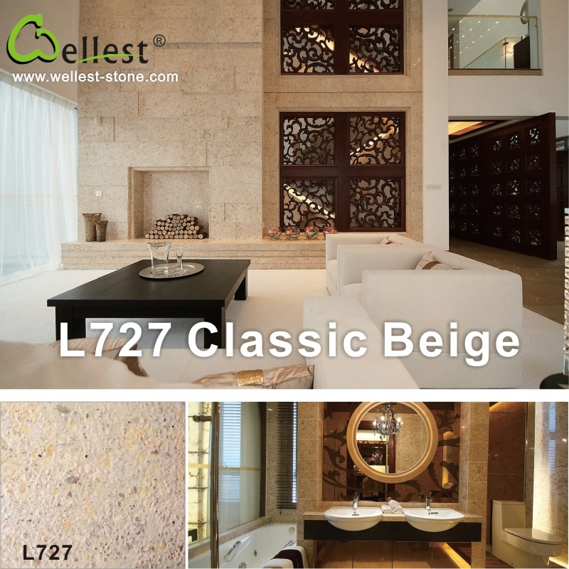 L727 Beige Limestone for Garden/Patio/Poolflooring and Wall Cladding Tile