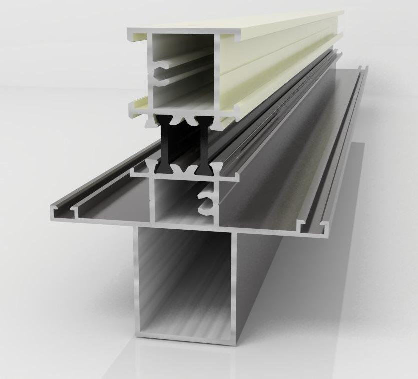 Powder Coating Aluminum Windows and Doors Construction Aluminium Profile