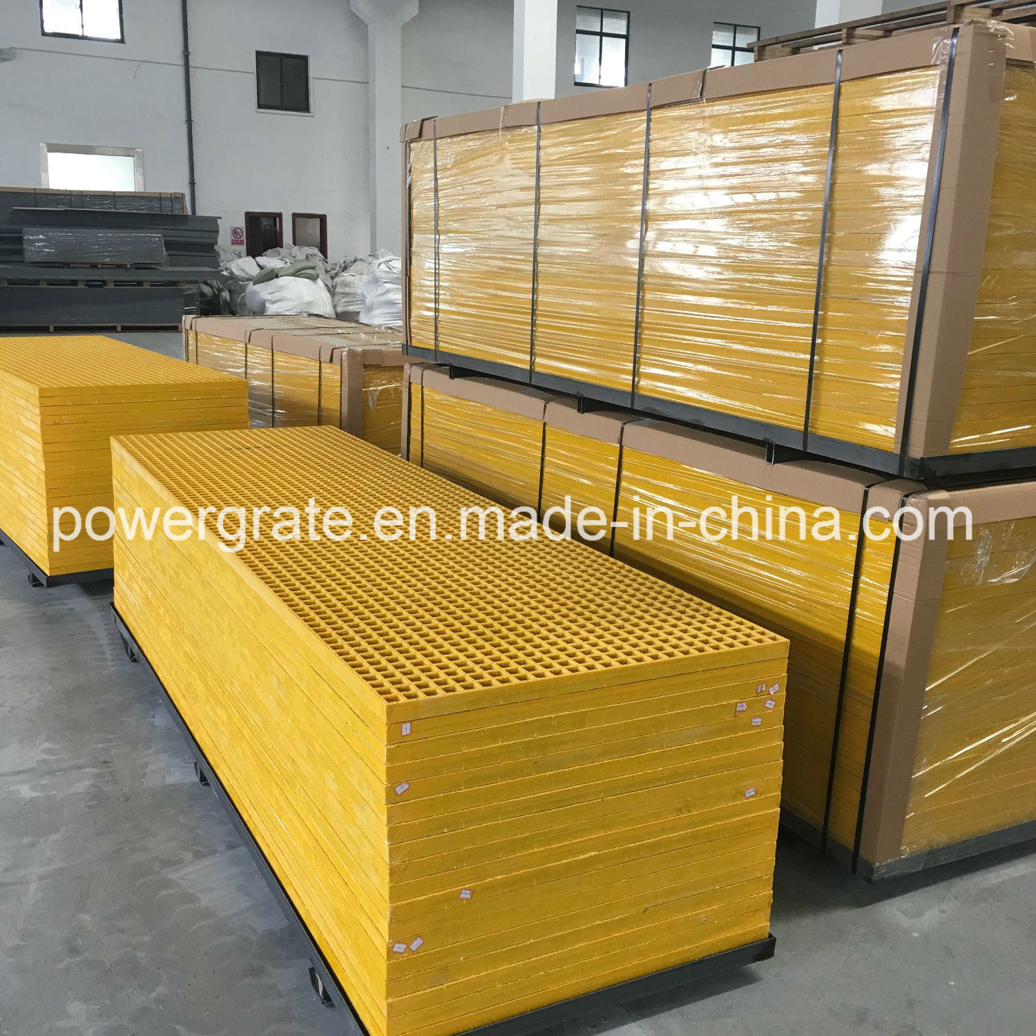 Powergrate Fiberglass FRP Grating with Gritted Surface