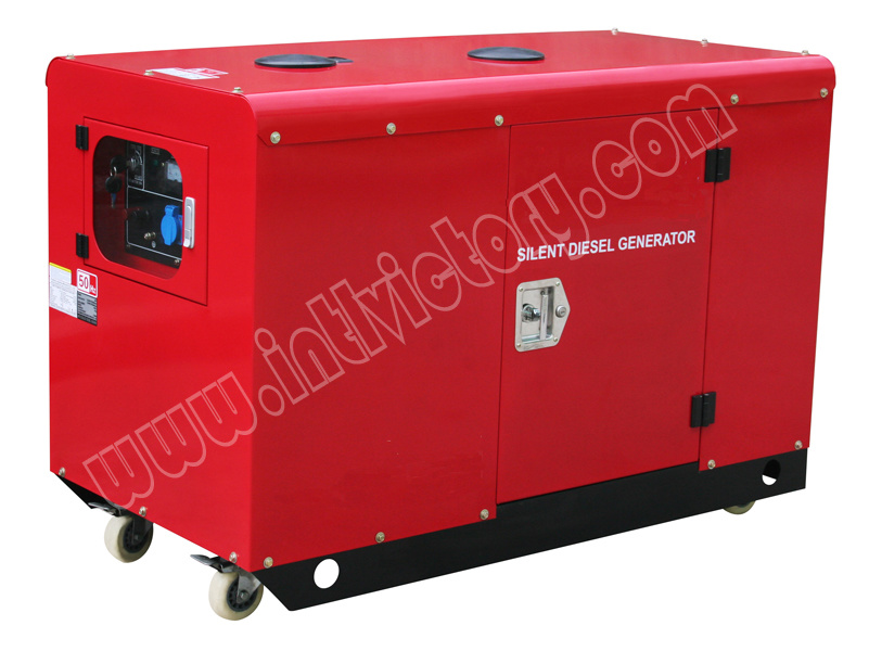 11kVA Silent Portable Diesel Twin Cylinder Engine Generator with CE/Soncap/Ciq Certifications