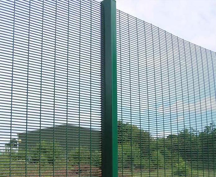 Powder Coated 358 Security Fence, Anti Climb Prison Fence