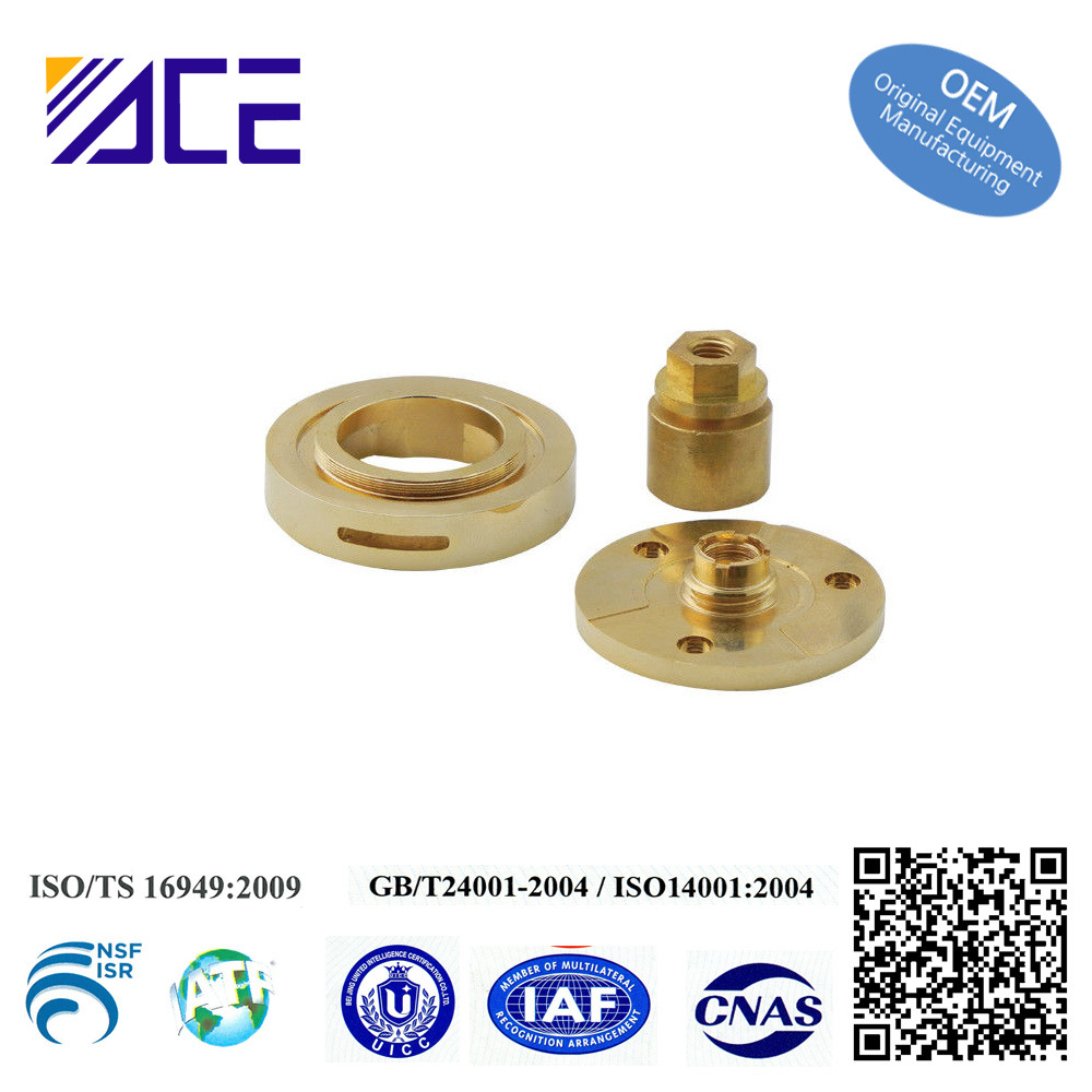 Custom CNC Turning Brass Copper Flat Washer Connector