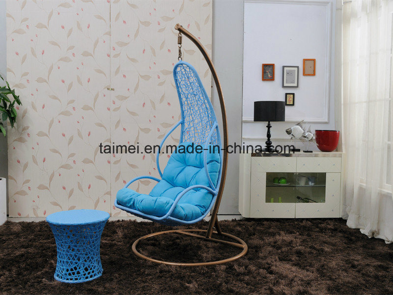 Maple Leaf Basket Swing Chair with Arm Rest