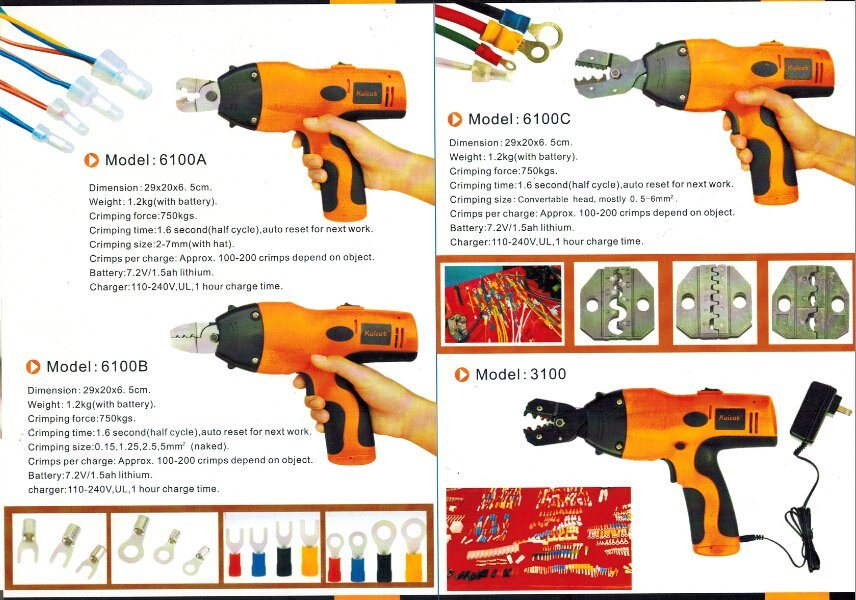 Power Cable Crimping Tool for 0.5-6mm2 Terminal with Dies