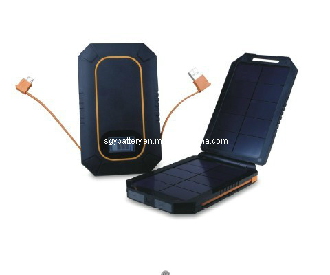 6000mAh Three Output Mobile Multi Solar Charger Power Bank (SGY54-BH)