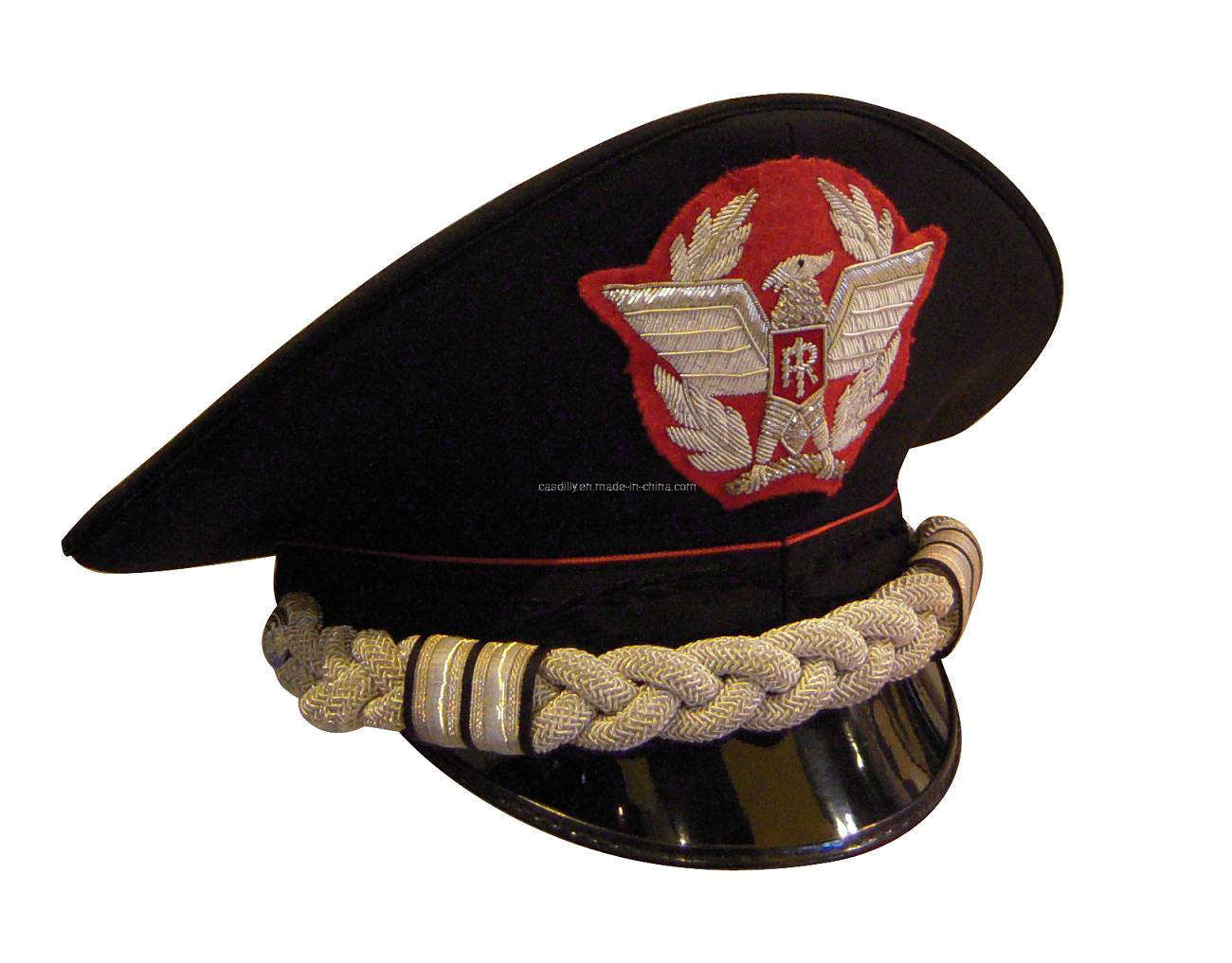 Hand Embroidery Cap Police Military Hats