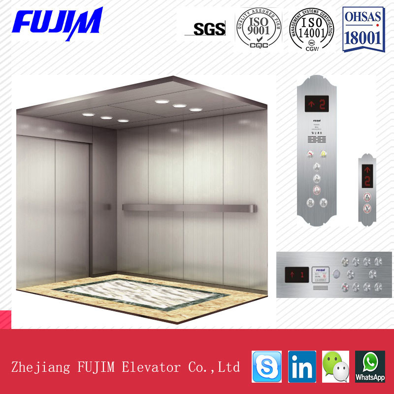 1600kg Load High Speed Passenger Lift Bed Elevator with SGS