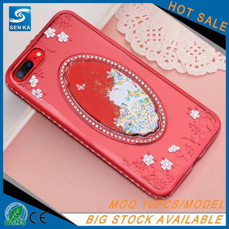 Crystal Diamond 3D Liquid Quicksand TPU Case for iPhone 7