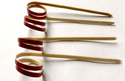 Custom Made Wholesale Price Bamboo Knotted Picks