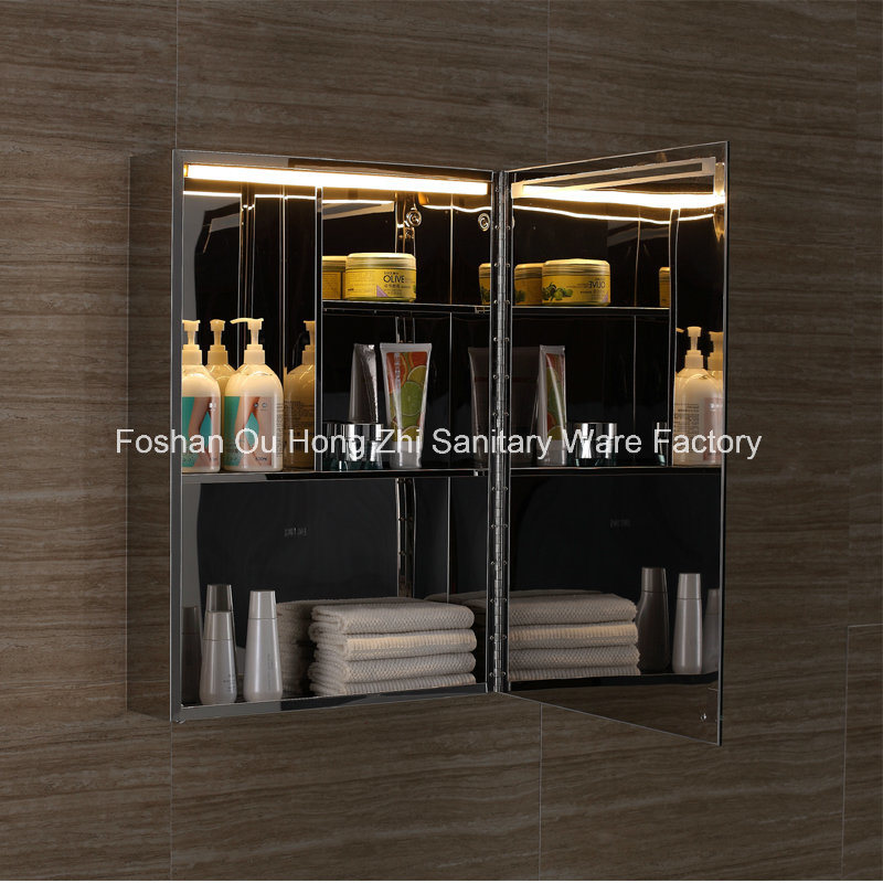 Bathroom Design Hotel LED Mirror Anti Fog Touch Screen Bathroom LED Cabinet