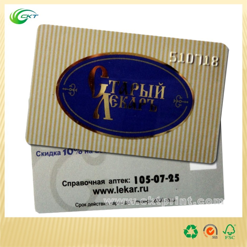 Custom Plastic Card with Foil Stamping (CKT-PC-015)