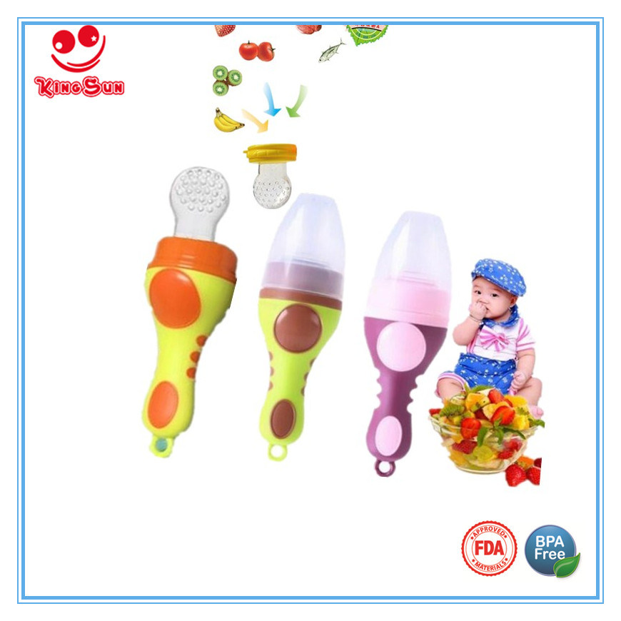 2017 New Design Baby Food Feeder Teether for Fresh Fruit