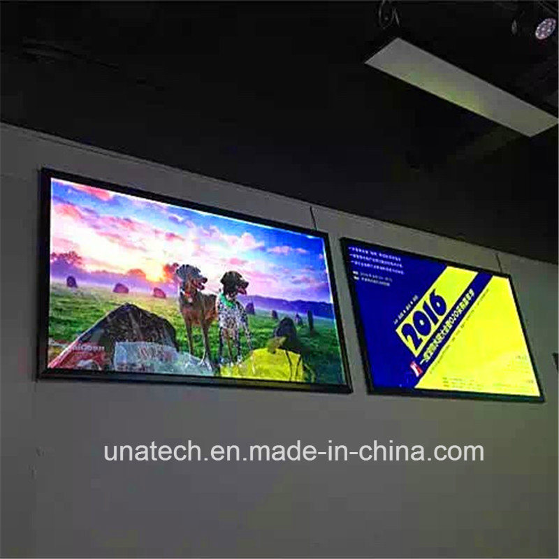 Wall Mounted LED Banner Ads Aluminium Frame Light Box