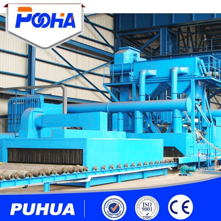 Steel Plate Shot Blasting Descaling and Painting Production Line for Plate Pretreatment