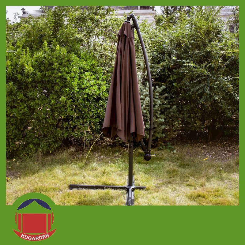 2.5m Round Garden Umbrella Coffee Color Banana Umbrella