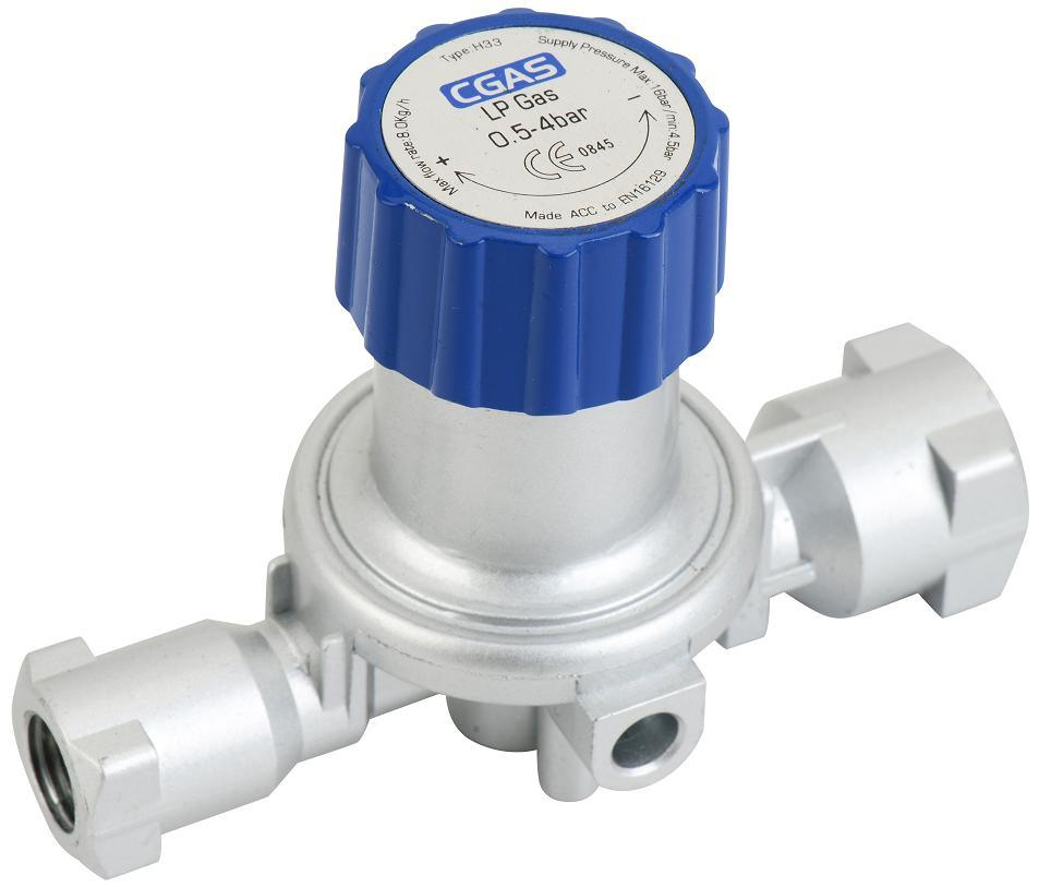 LPG Euro High Pressure Gas Adjustable Regulator (H33)