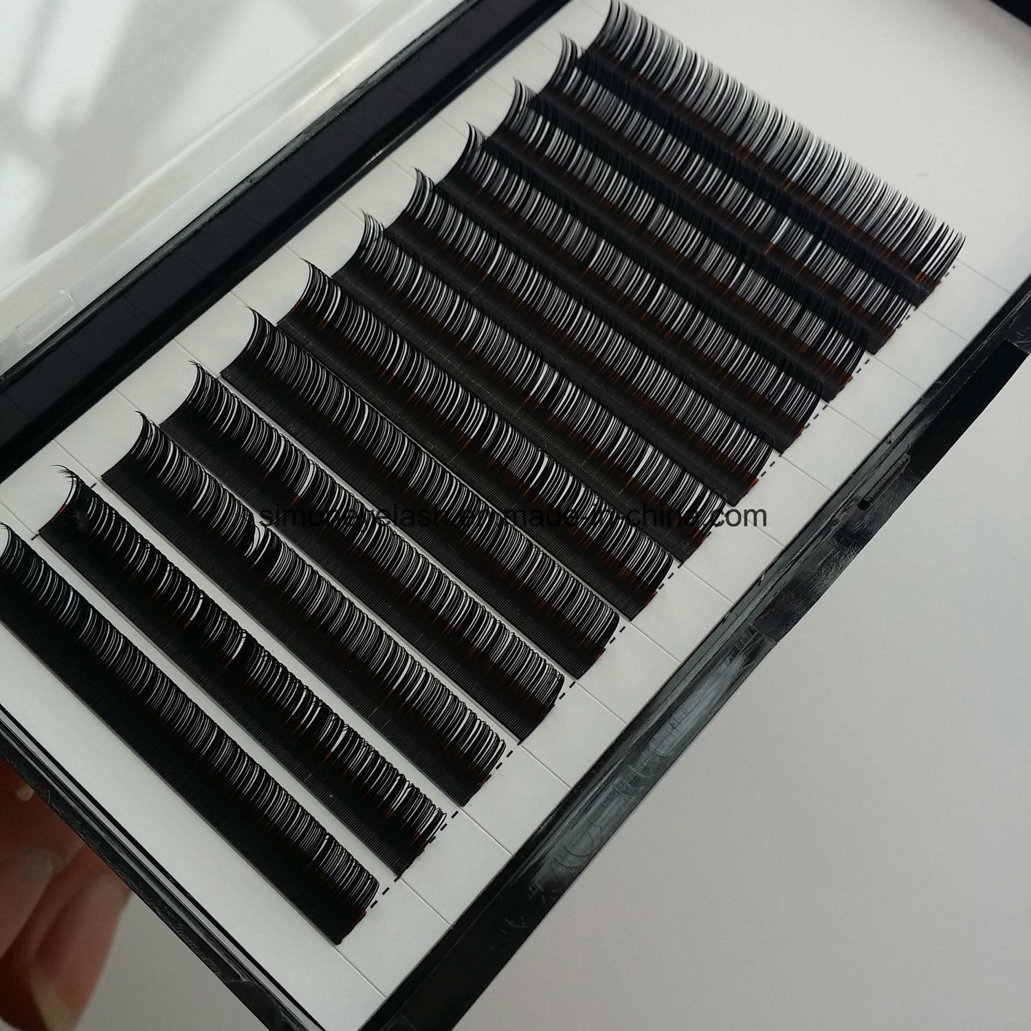Natural Black Korea Synthetic Individual Lashes 12 Line Per Tray