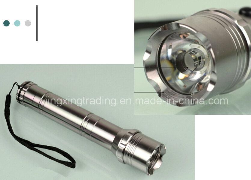 Portable High-Quality Aviation Aluminum Alloy Solar Flashlight (JX-SF005)