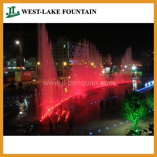 with Colorful LED Lighting and Music Hidden Pool Dry Fountain