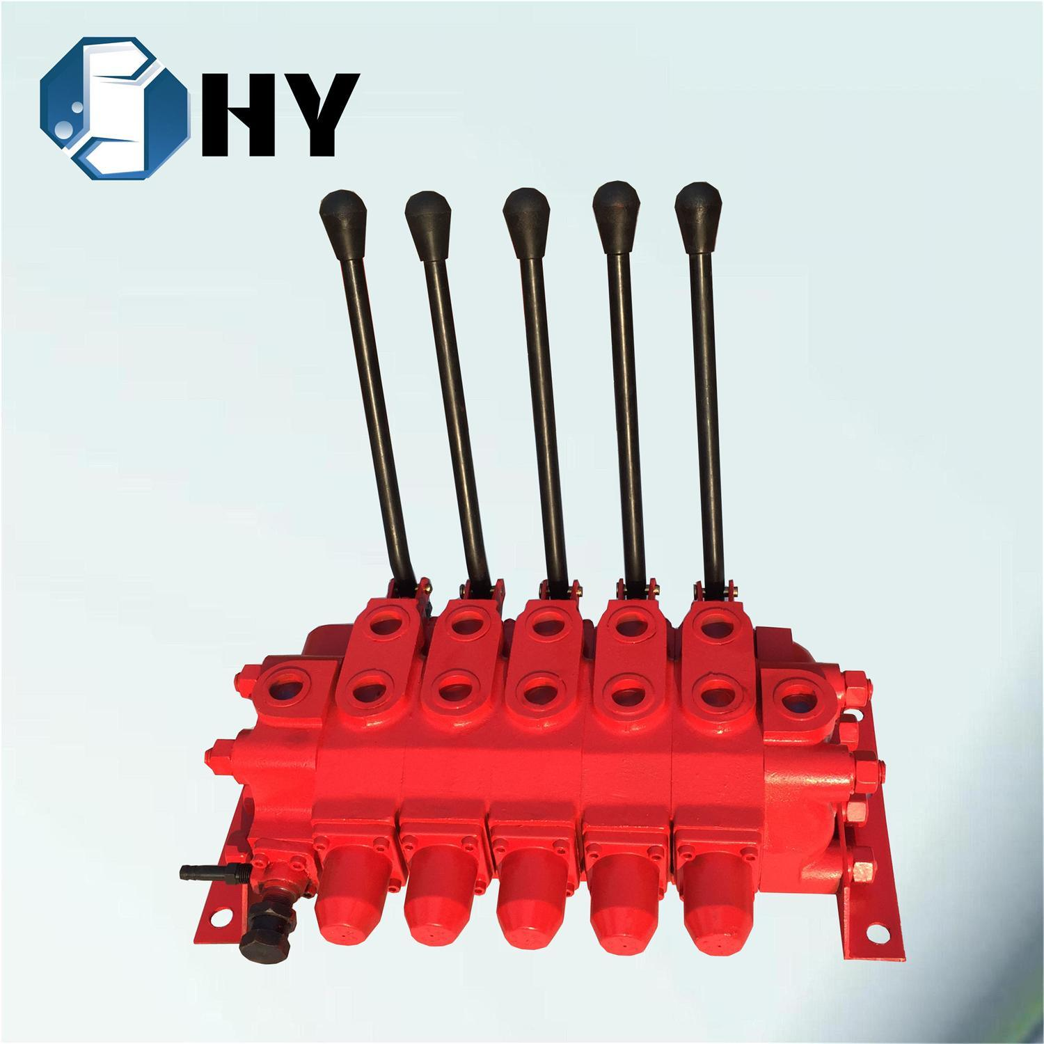 5 Spool/Lever/Section Hydraulic Multiple Control Valve for Brick Macking Machine