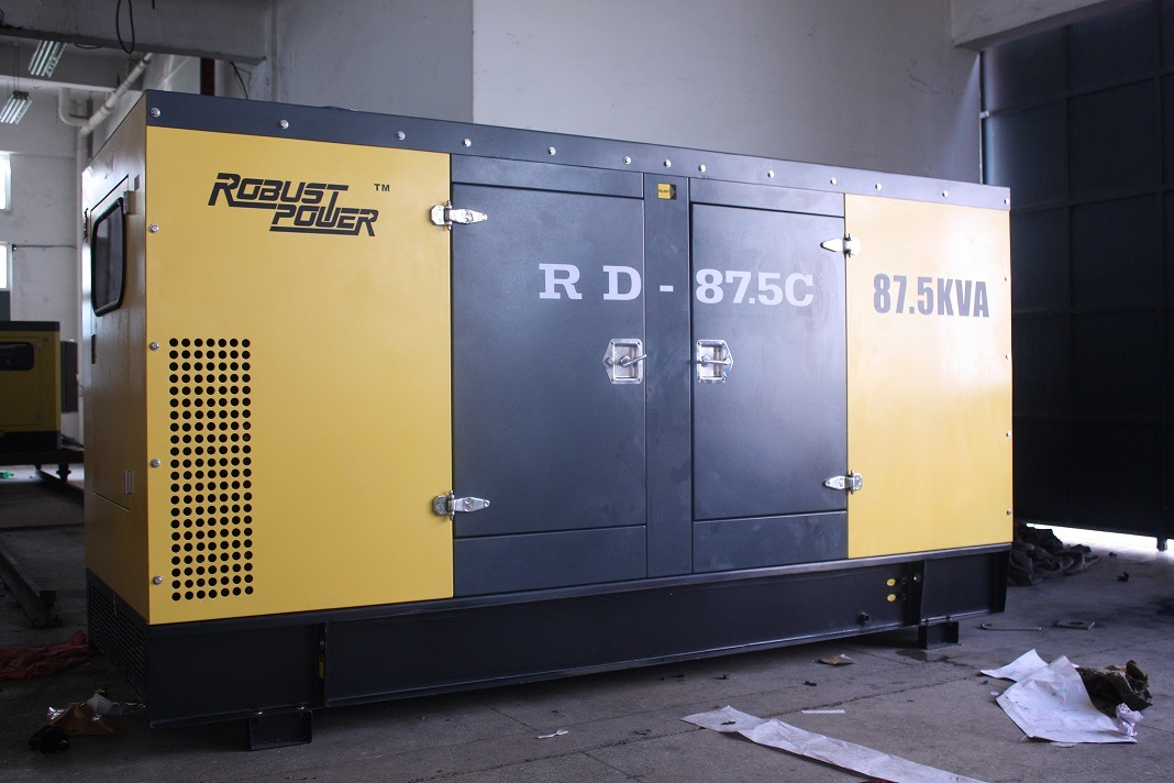 Soundproof, Water-Cooled Diesel Generator Alternator Genset Silence
