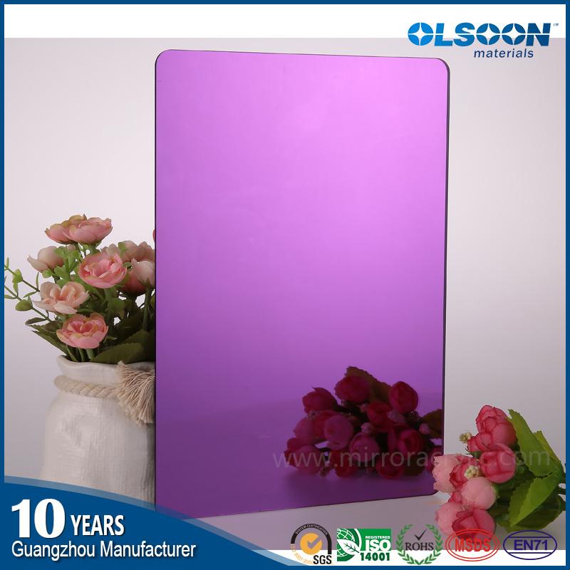 Guangzhou Manufacture Olsoon Acrylic Mirror Plastic Sheet
